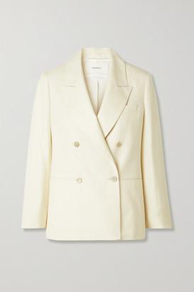 CASASOLA + Net Sustain Carioca Organic Wool, Silk And Linen-blend Blazer - Cream