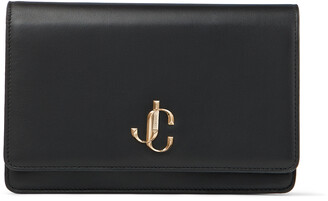Jimmy Choo PALACE Black Smooth Calf Leather Mini Bag with JC Emblem