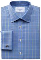 Charles Tyrwhitt Slim fit non-iron Prince of Wales blue and gold shirt