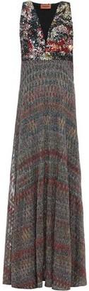 Missoni Sequined Metallic Crochet-knit Maxi Dress