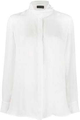 Emporio Armani Sheer Long-Sleeved Shirt