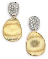 Marco Bicego Lunaria Diamond & 18K Yellow Gold Small Drop Earrings