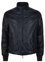 Emporio Armani Two-tone Padded Leather Jacket