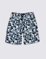 Marks and Spencer Geometric Print Swim Shorts (3-14 Years)