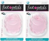 Foot Petals Technogel Tip Toes For Flip Flops 2-Pair Pack