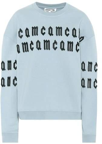McQ Embroidered cotton sweatshirt