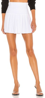 Norma Kamali Pleated Mini Skirt