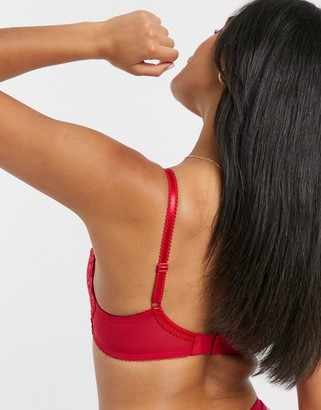 Pour Moi? Pour Moi opulence lightly padded underwired bra in red & pink