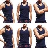 Godsen Men's 6 Pack A-Shirt Sleeveles Undershirts Tank Top XL