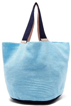 Sophie Anderson Jonas Colour-block Bag - Womens - Light Blue