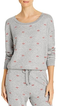 Splendid X's And O's Embroidered Sweatshirt