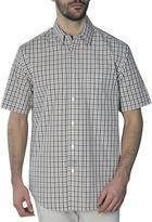 Haggar Men's Short Sleeve Two-Tone Gingham Shirt
