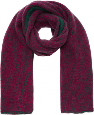 The Elder Statesman Two-Tone Marled Cashmere Scarf
