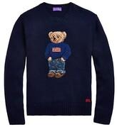 Thumbnail for your product : Ralph Lauren Purple Label Cashmere Flag Bear Sweater