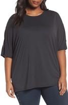 Sejour Plus Size Women's Cutout Sleeve Tee