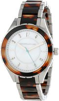 Kenneth Jay Lane Women's KJLANE-2214 Dial Stainless Steel and Brown Tortoise Resin Watch