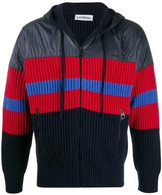 Dirk Bikkembergs block colour knitted hoodie