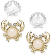 Charter Club Under The Sea Gold-Tone 2-Pc. Stud Earring Set, Only at Macy's