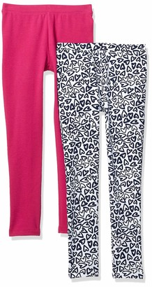 Spotted Zebra 2-pack Cozy Leggings Giraffe/Teal 4T Pack of 2