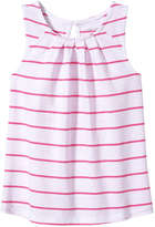 Joe Fresh Toddler Girls' Pleat Neck Tank, Light Neon Pink (Size 2)