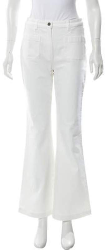 Michael Kors Mid-Rise Flared Jeans w/ Tags White Mid-Rise Flared Jeans w/ Tags