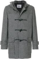 MSGM houndstooth duffle coat