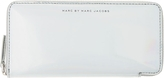 Marc by Marc Jacobs Silver Holographic Slim Zip-Around Wallet