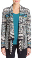 Nic+Zoe Striped Flyaway Cardigan