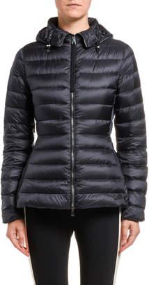 Moncler Amethyste Hooded Puffer Coat