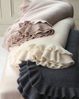 Sofia Cashmere Ruffled Cashmere Throw