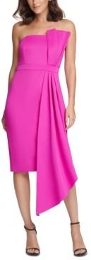 Brinker & Eliza Petite Bow-Front Strapless Sheath Dress