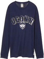 PINK University Of Connecticut Long Sleeve Campus Tee