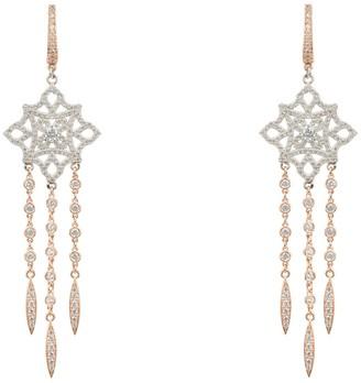 Latelita Celtic Knot Diamond Dream Catcher Earrings Rosegold