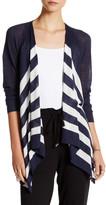 Splendid Open Striped Linen Blend Cardigan