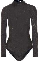 Opening Ceremony Cleo Glittered Stretch-jersey Bodysuit - Black