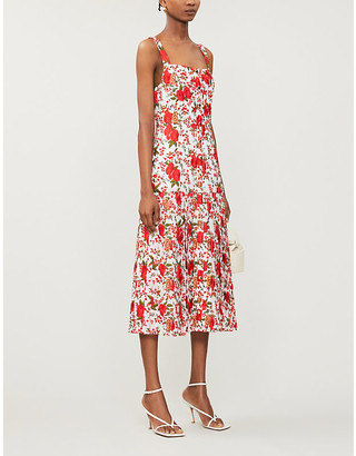 Alexis Amal floral-embroidery woven midi dress