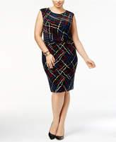 Anne Klein Plus Size Pleated-Waist Sheath Dress