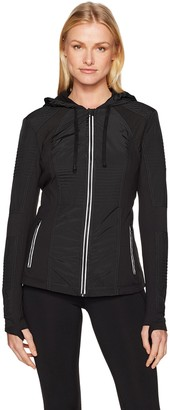 Blanc Noir Women's Hooded Windbreaker Jacket