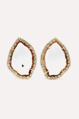 Kimberly McDonald - Net Sustain 18-karat Gold, Geode And Diamond Earrings