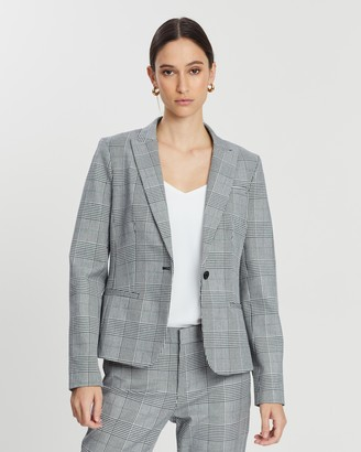 Banana Republic Classic Glen Plaid Sloan Blazer