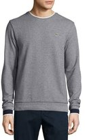 Lacoste Semi-Fancy Piqué Sweatshirt, Navy Blue Mouline/Navy Blue