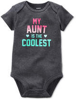 Carter's My Aunt Is The Coolest Cotton Bodysuit, Baby Girls (0-24 months)