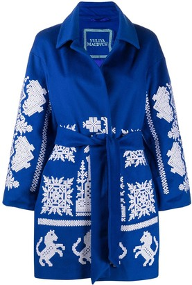 Yuliya Magdych Kievan embroidered kimono style coat