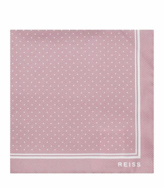 Reiss JUPITER SILK POCKET SQUARE Dusty Pink
