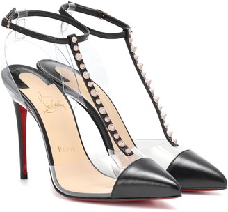 Christian Louboutin Nosy Spikes PVC and leather pumps
