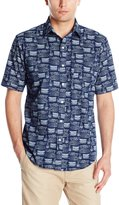Arrow Men's Short Sleeve Sea Jack Boat Printed Shirt