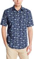 Arrow Men's Short Sleeve Sea Jack Boat Printed Shirt