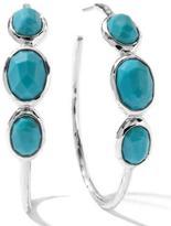 Ippolita Three-Stone Hoop Earrings