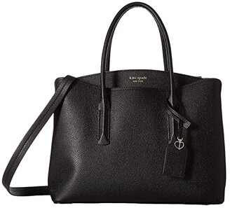 Kate Spade Margaux Large Satchel (Black) Satchel Handbags