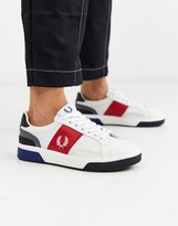 Fred Perry b200 color block leather sneakers